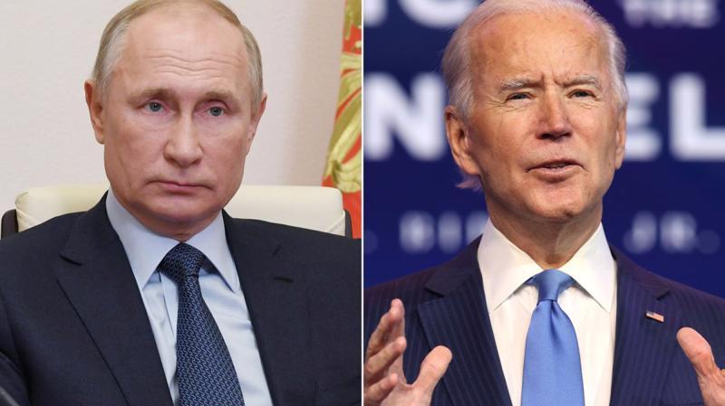 Tổng thống Nga Vladimir Putin (trái) và Tổng thống Mỹ Joe Biden.