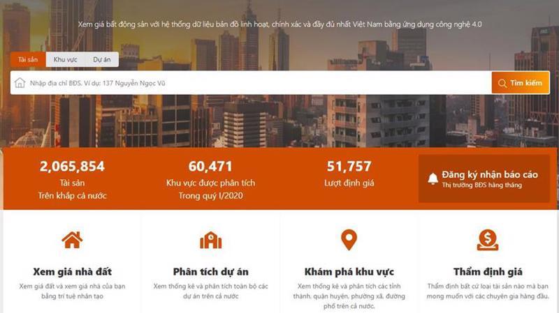 Công cụ định giá online dựa trên kho dữ liệu khổng lồ và công nghệ hiện đại của Cen Homes.