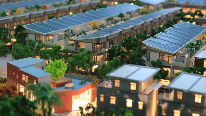 Phối cảnh Khu đô thị xanh khép kín Elite Life, với sản phẩm giới hạn là nhà phố liên kế xây sẵn.