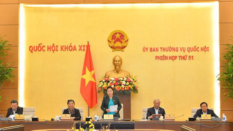 Phiên họp thứ 51 của Uỷ ban Thường vụ Quốc hội - Ảnh: Quochoi.vn