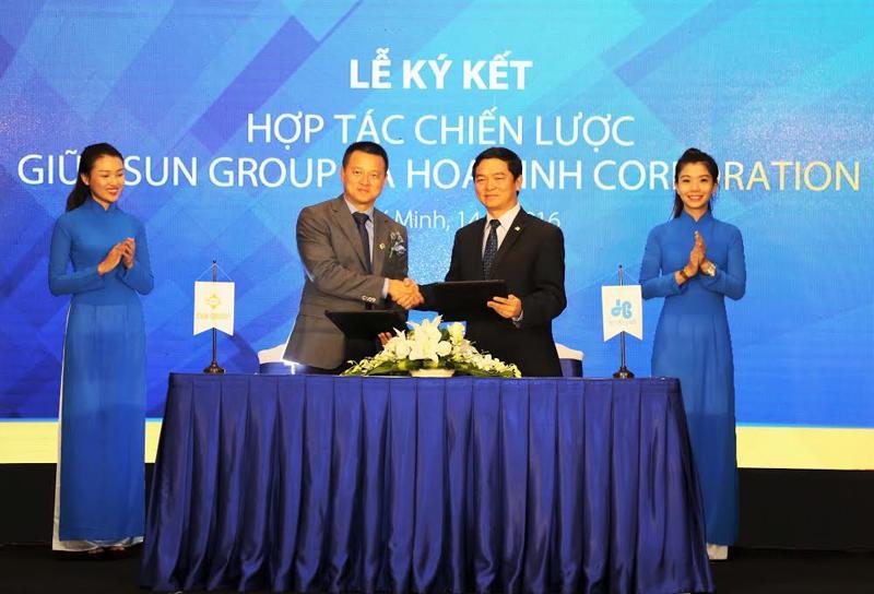 Hai doanh nghiệp đã có thời gian dài hợp tác qua nhiều công trình do Sun Group đầu tư và phát triển.