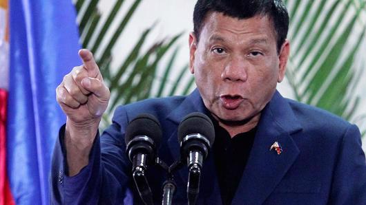 Tổng thống Philippines Rodrigo Duterte - Ảnh: Reuters/CNBC.<br>