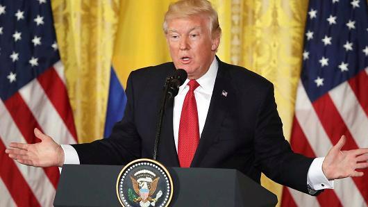 Tổng thống Mỹ Donald Trump - Ảnh: Getty/CNBC.<br>