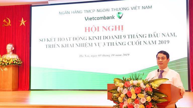 Ông Nghiêm Xuân Thành, Chủ tịch Hội đồng Quản trị Vietcombank, tại sự kiện.
