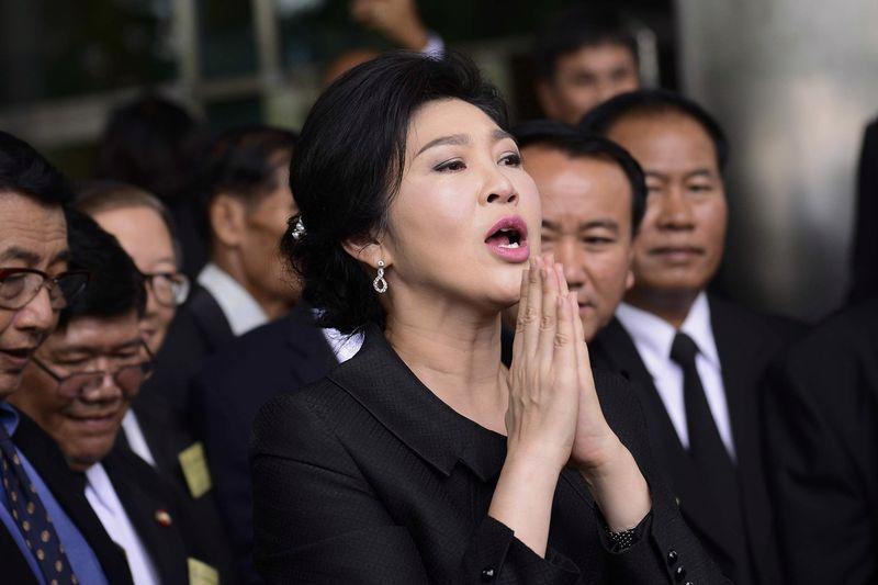 Cựu Thủ tướng Thái Lan Yingluck Shinawatra tại Bangkok hôm 21/7 - Ảnh: Getty/Bloomberg.<br>