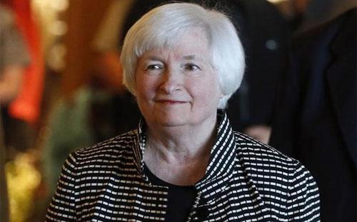 Chủ tịch FED Janet Yellen tại hội nghị ở Jackson Hole ngày 25/8.<br>