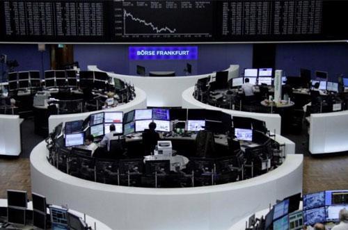 Sàn giao dịch chứng khoán Frankfurt của Đức - Ảnh: Reuters.<br>