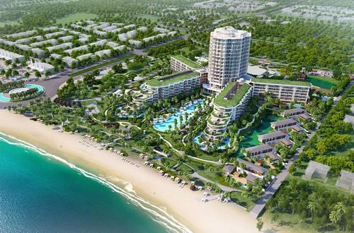 Phối cảnh dự án InterContinental Phu Quoc Long Beach Residences.