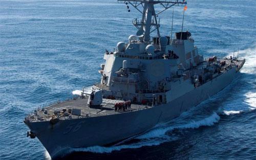 Khu trục hạm USS John S. McCain hồi năm 2010 - Ảnh: Hải quân Mỹ/Reuters.<br>