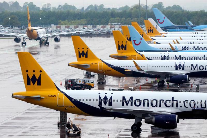 Máy bay của Monarch Airlines, hãng hàng không Anh phá sản mới đây.<br>