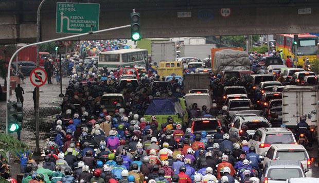 Tắc đường ở Jakarta, Indonesia.<br>