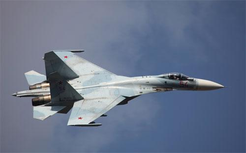 Máy bay chiến đấu Sukhoi SU-35 của Nga.<br>