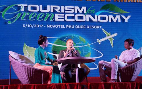 """<span style=""""font-size: 13.3333px;"""">Ngày 6/10/2017, Liên hoan Các doanh nghiệp trong ngành du lịch (The Guide Awards) lần thứ 18 đã được Thời báo Kinh tế Việt Nam tổ chức tại Novotel Phu Quoc Resort (Đảo Phú Quốc, tỉnh Kiên Giang).</span>"""