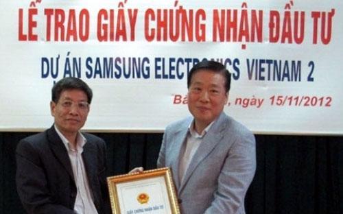 Những dự án như Samsung là điểm sáng trong một năm sụt giảm về FDI.<br>