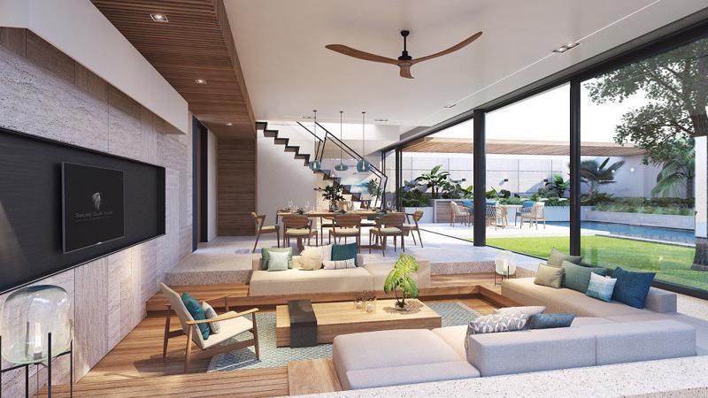 """Những vật liệu """"rất Phú Quốc"""" như đá, gỗ tự nhiên… được kì công tuyển lựa để Sailing Club Villas Phu Quoc mang dấu ấn của riêng mình."""
