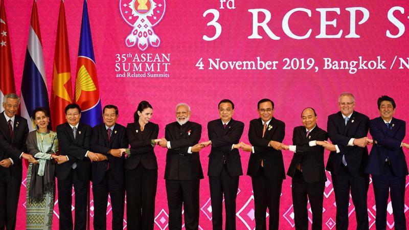 Thượng đỉnh RCEP được tổ chức ngày 4/11/2019 tại Thái Lan - Ảnh: Bloomberg.