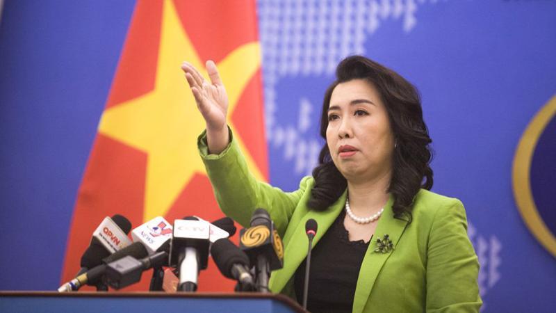 Người phát ngôn Bộ Ngoại giao Lê Thị Thu Hằng - Ảnh: Báo Quốc Tế