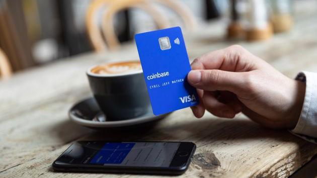 Thẻ ghi nợ Visa Coinbase Card - Ảnh: Coinbase.