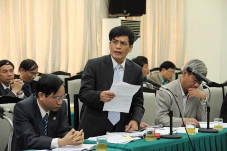 Ông Nguyễn Ngọc Huệ trong một buổi họp giao ban tại Bộ Giao thông Vận tải.
