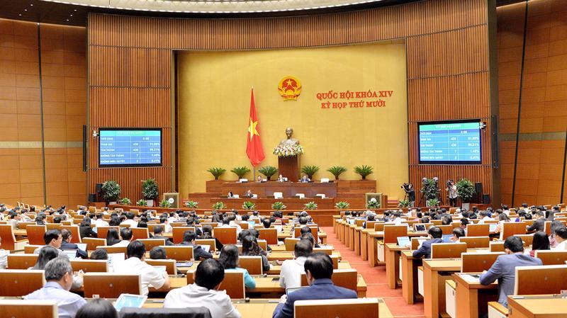 Quốc hội thông qua Nghị quyết về phát triển kinh tế - xã hội năm 2021 - Ảnh: Quochoi.vn