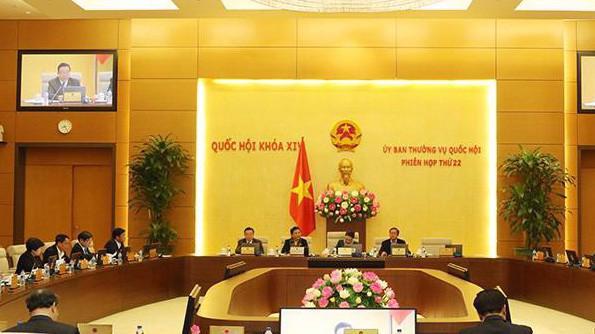 Uỷ ban Thường vụ Quốc hội họp phiên thứ 22.
