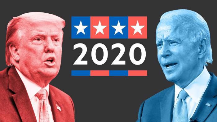 Hai ứng viên tổng thống Mỹ năm 2020 - Ảnh: Financial Times.