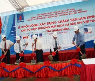 Lễ khởi công khách sạn Lam Kinh sáng 26/8.