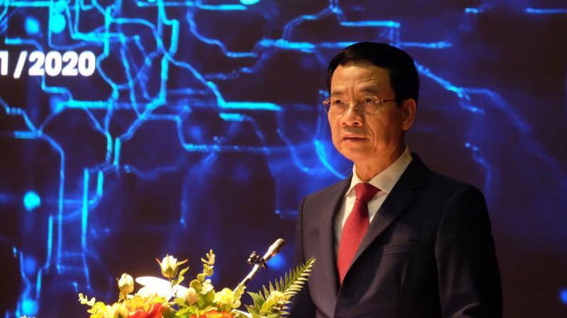 Bộ trưởng Nguyễn Mạnh Hùng phát biểu tại Open Summit 2020, diễn ra chiều 18/11.