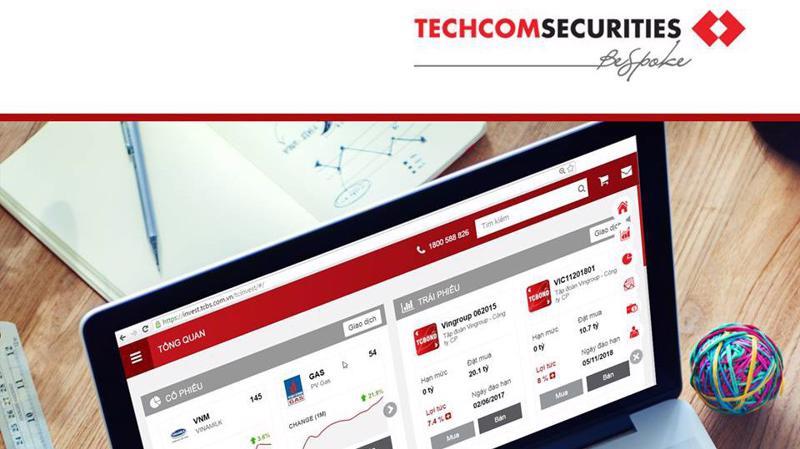 Techcom Securities là công ty con 100% vốn sở hữu thuộc ngân hàng Kỹ Thương Việt Nam (Techcombank).