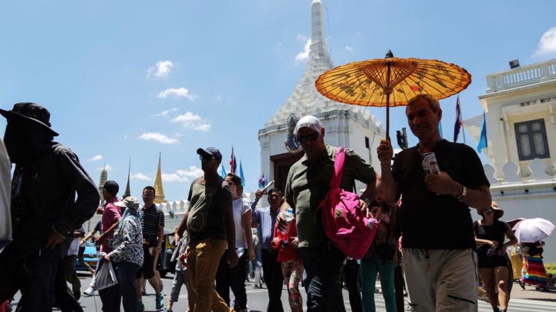 Năm 2018, Bangkok đón hơn 22 triệu lượt khách quốc tế ở qua đêm - Ảnh: Bloomberg.