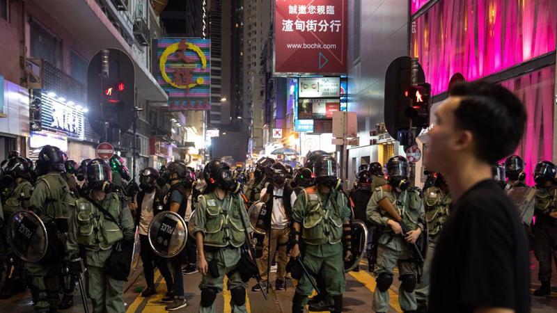 Cảnh sát trấn áp người biểu tình tại Hồng Kông - Ảnh: Getty Images.