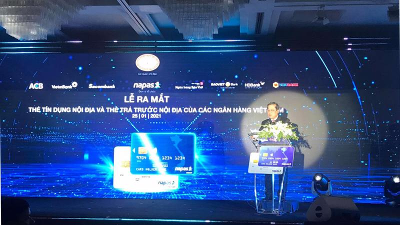 Phó Thống đốc Nguyễn Kim Anh phát biểu tại buổi lễ.