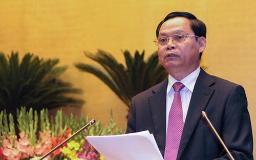 Tổng thanh tra Chính phủ Huỳnh Phong Tranh trình bày báo cáo về công tác phòng chống tham nhũng<br>