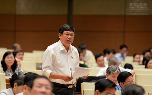 Đại biểu Lê Nam phát biểu tại nghị trường.<br>