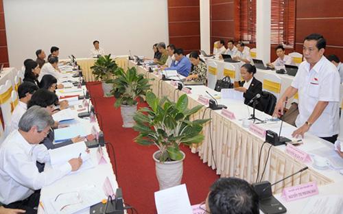 Một buổi họp tổ của Quốc hội.<br>