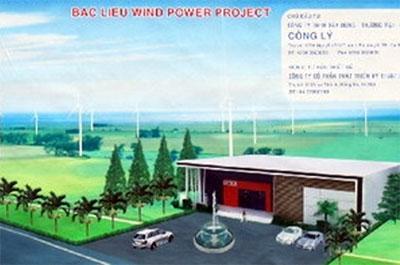 Phối cảnh nhà máy điện gió Bạc Liêu.