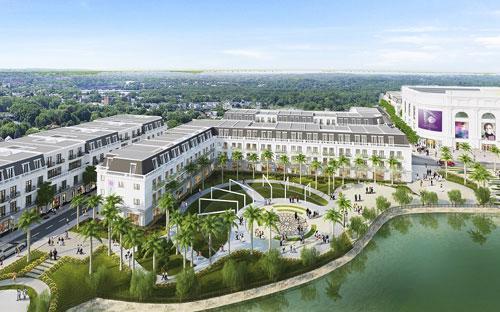 Phối cảnh dự án nhà phố thương mại Vincom Shophouse Yên Bái.