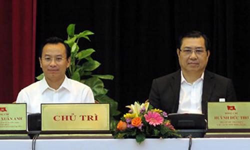 Ông Nguyễn Xuân Anh và ông Huỳnh Đức Thơ.