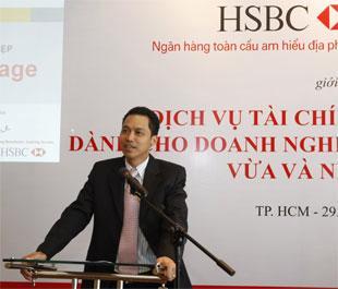 HSBC giới thiệu sản phẩm dịch vụ tới doanh nghiệp vừa và nhỏ tại Tp.HCM.