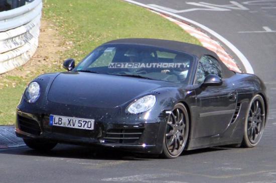 Porsche Boxster 2012 trên đường chạy thử nghiệm - Ảnh: Motor Authority.