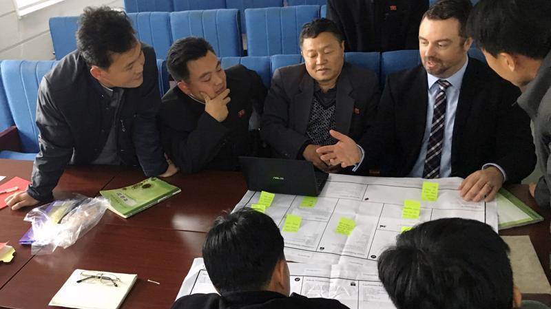Doanh nhân Triều Tiên tại một hội thảo - Ảnh: Bloomberg.