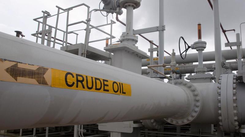 Một đoạn đường ống dẫn dầu tại kho dự trữ dầu lửa chiến lược của Mỹ ở Freeport, Texas - Ảnh: Reuters.