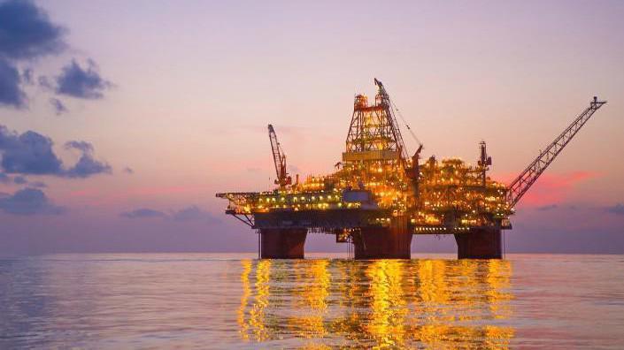 Một giàn khoan dầu trên Vịnh Mexico.