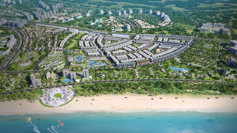 Nhơn Hội New City sở hữu vị trí đẹp với mặt tiền biển trải dài.
