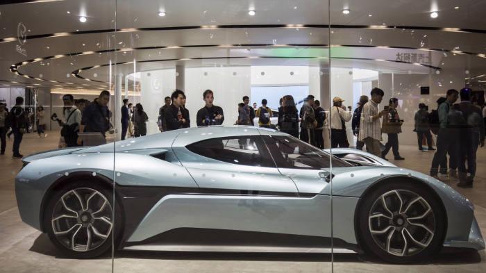 Một mẫu xe điện của công ty Trung Quốc Nio - Ảnh: FT.