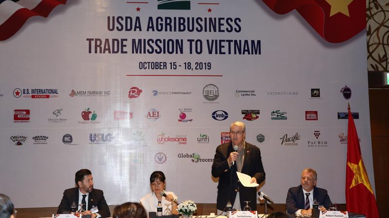 Thứ trưởng Bộ Nông nghiệp Hoa Kỳ Ted McKinney. Ảnh: VGP/Mạnh Hùng