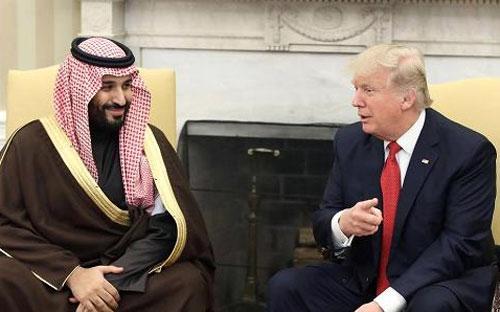 Thái tử Saudi Arabia Mohammed bin Salman (trái) và Tổng thống Mỹ Donald Trump - Ảnh: CNBC.<br>