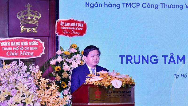 Ông Lê Đức Thọ - Chủ tịch Hội đồng quản trị VietinBank phát biểu tại sự kiện.