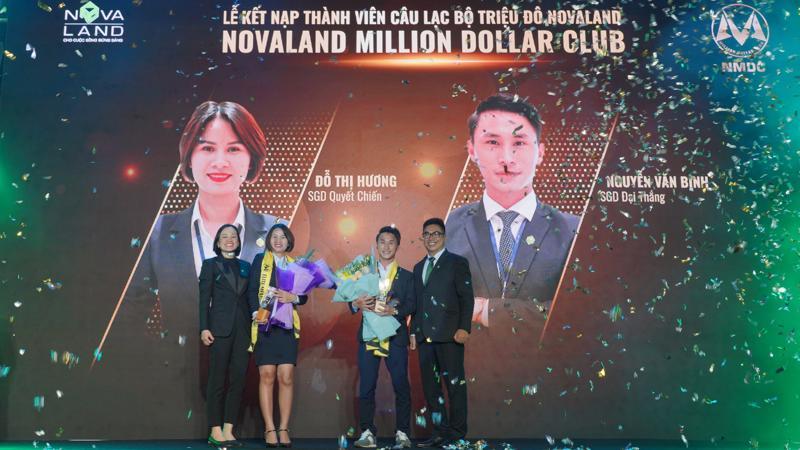 Hai thành viên đầu tiên của Câu lạc bộ triệu đô Novaland.