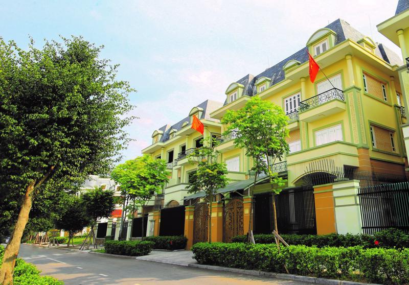 An Khang Villa sở hữu mặt tiền rộng thoáng.